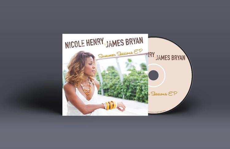 Nicole Henry & James Bryan Summer Sessions EP Pocket Album Mockup