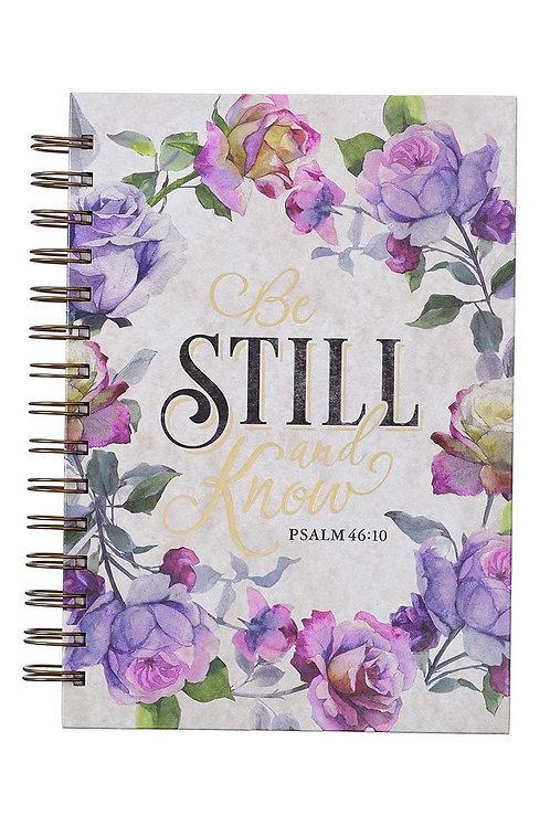 Be Still & Know Floral Large Wirebound Journal