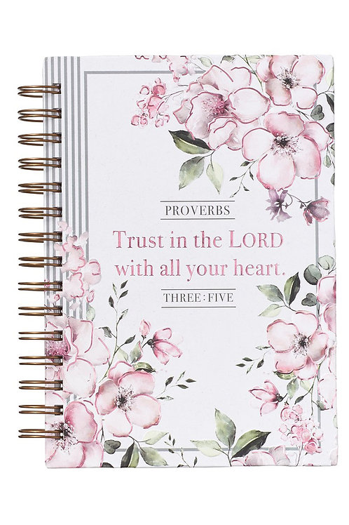 Trust In The Lord Floral Hardcover Wirebound Journal