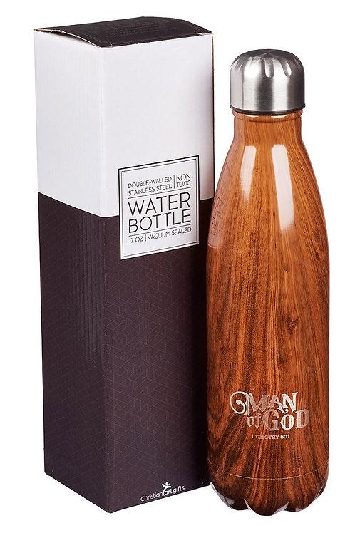 Man of God Stainless Steel Water Bottle