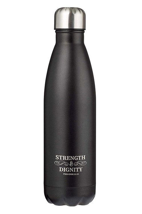 """Prov 31:25 """"Strength & Dignity"""" Water Bottle"""