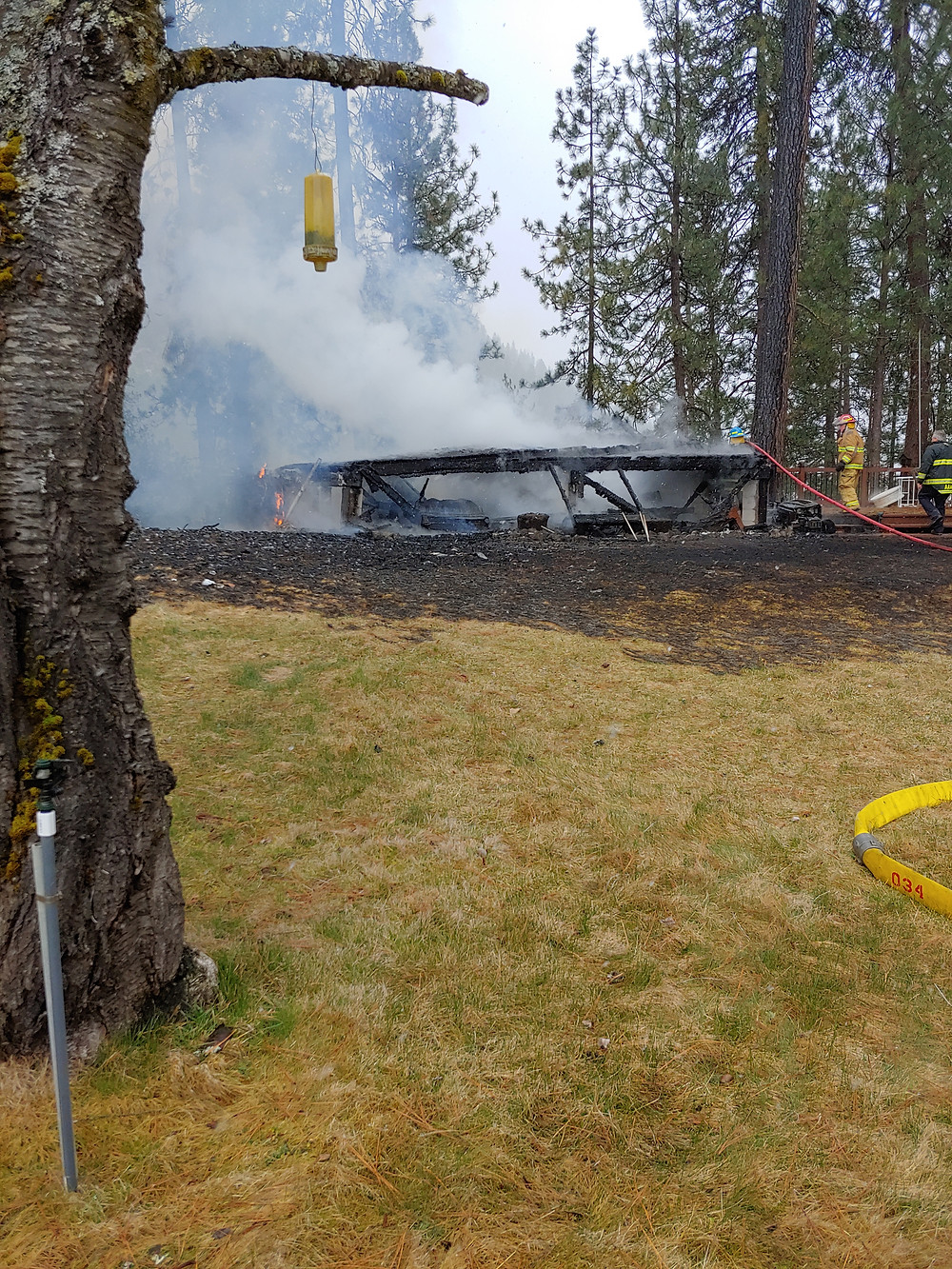Shoshone County Fire District #2 responds to structure fire near Medimont