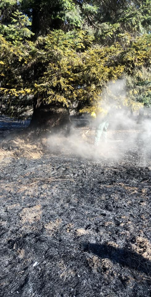 Crews respond to a wild land fire on Coeur d'Alene River Road