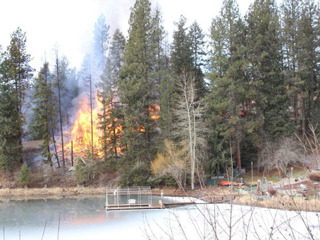 Fire crews unable to save a Hayden Lake house| North Idaho News