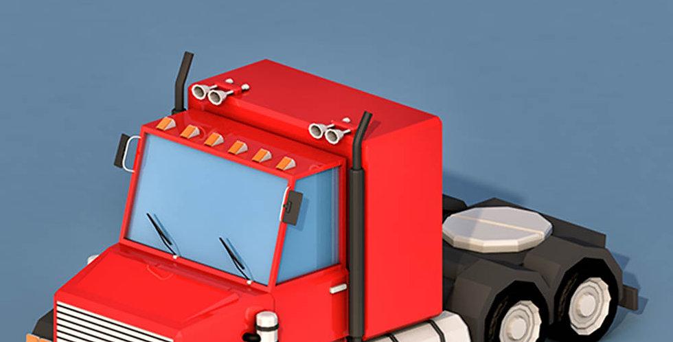 Semi Truck (LowPoly)