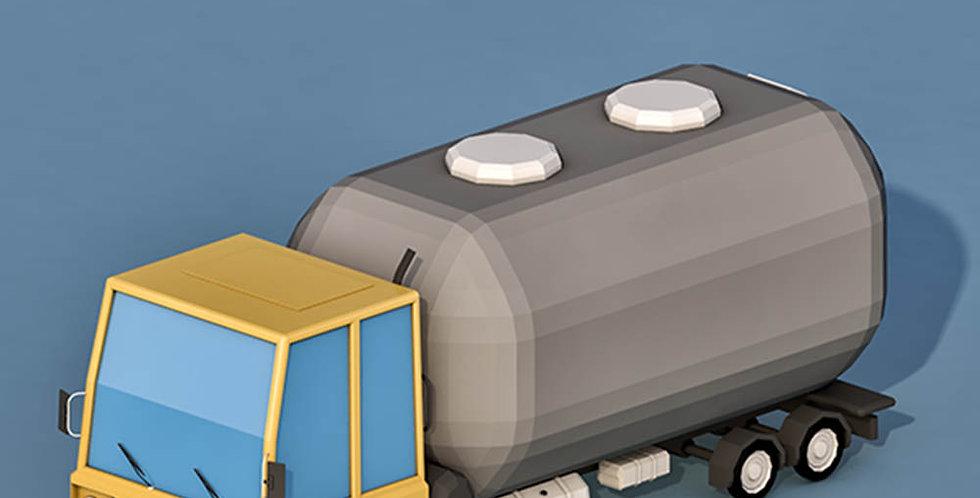 Water Truck  (LowPoly)