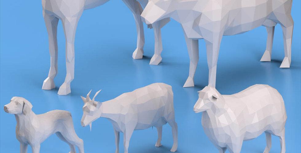 Lowpoly Farm Animals