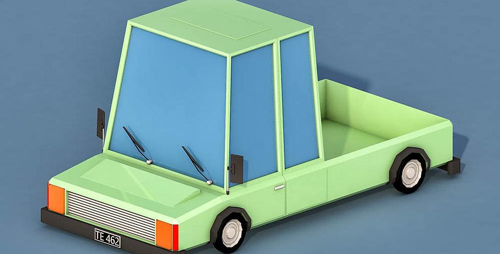 Open Car 1 (LowPoly)