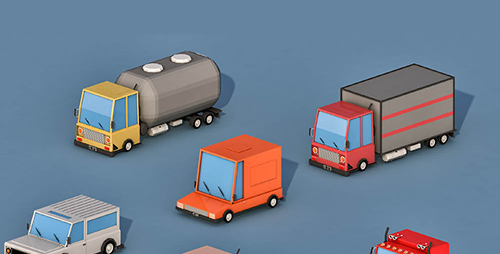 Transport Cars (LowPoly)