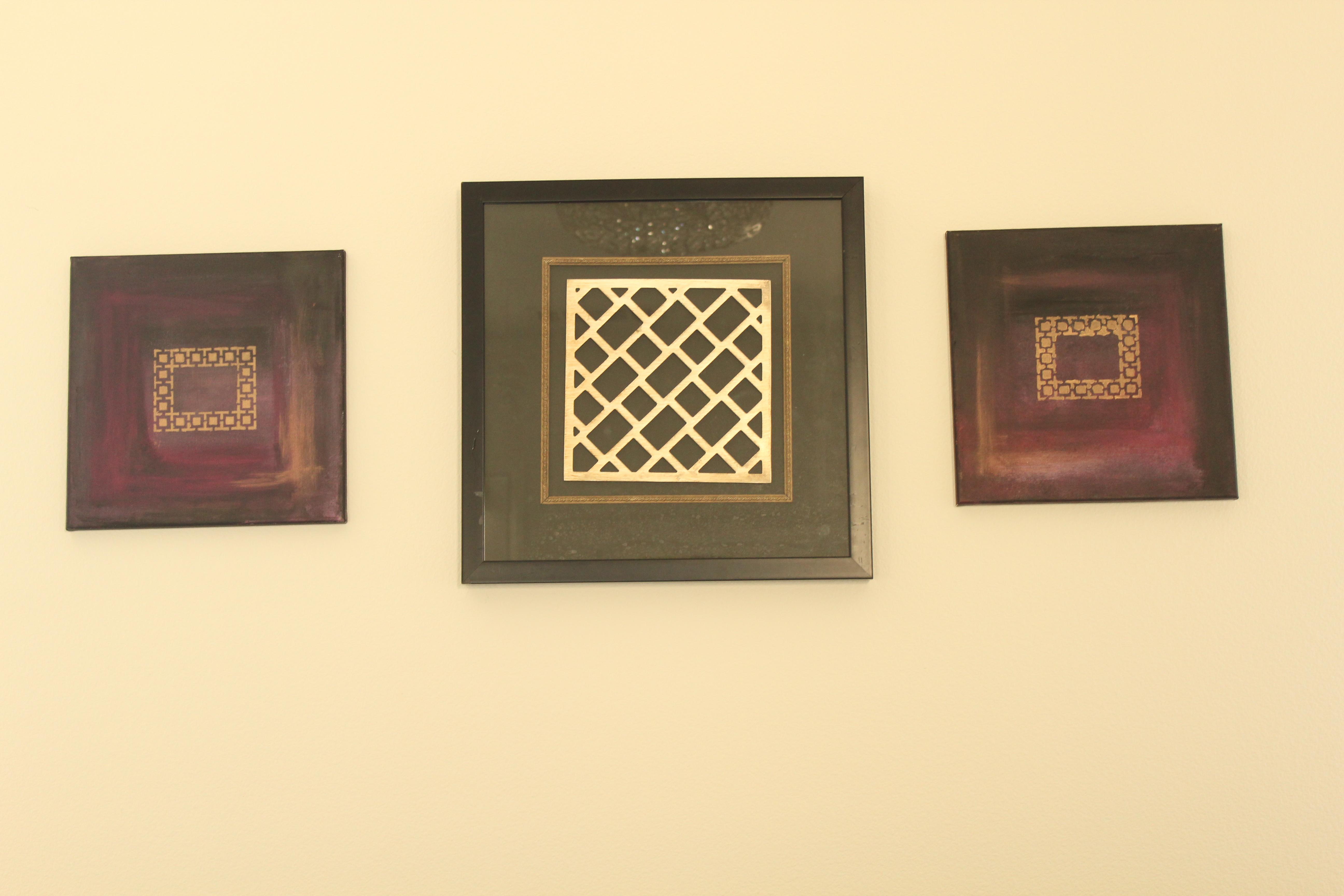 Black & pulple shade frame