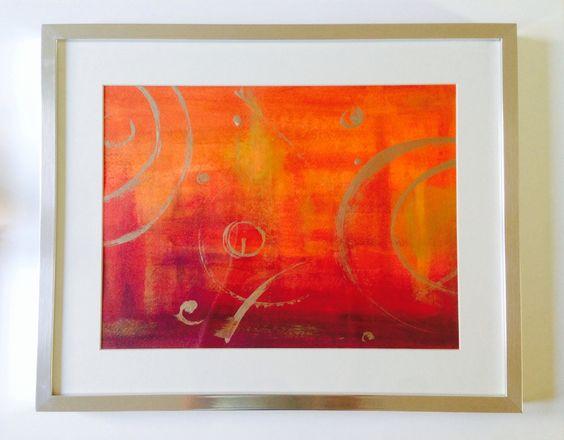 Bold Orange wall frame
