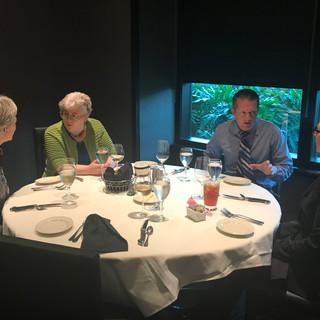ELC 2018 - PTLI Board Dinner - Gail Jensen, Laurie Hack, Merrill Landers, Susie Deusinger
