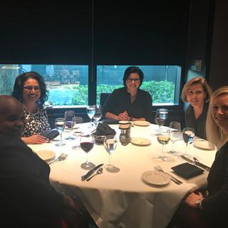ELC 2018 - PTLI Board Dinner - Lisa VanHoose, Rupal Patel, Danille Parker, Debbie Ingram