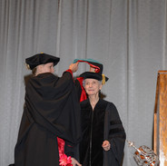 Honorary doctorate 2015 - Caroline Goulet hoods Geneva Johnson, University of the Incarnate Word
