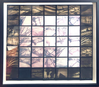 Palms in the Park Polaroid Mosaic _SOLD