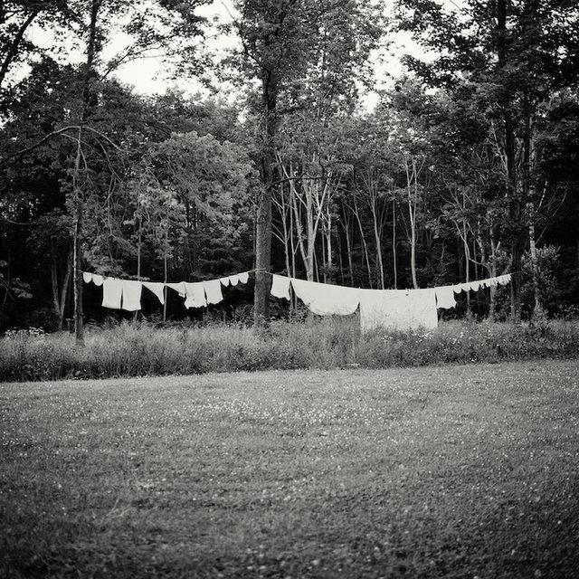 Laundry in Field