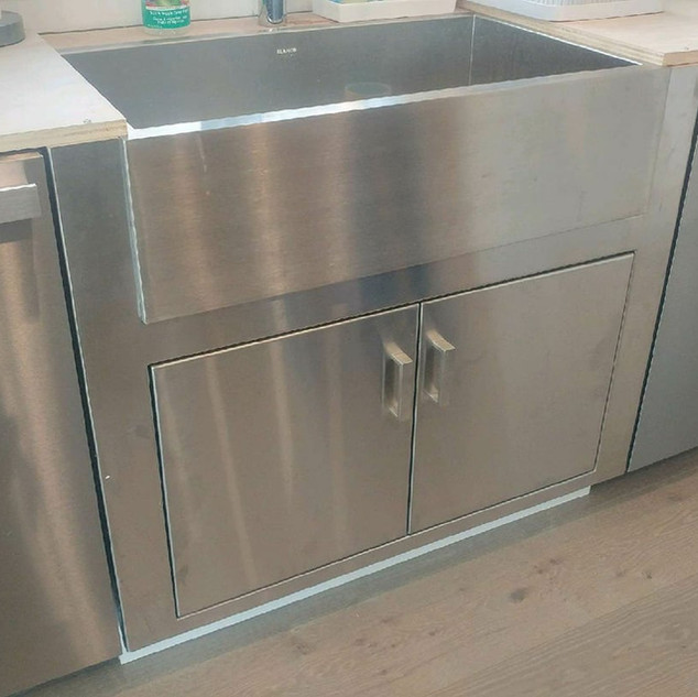XL Stainless Custom Cabinets