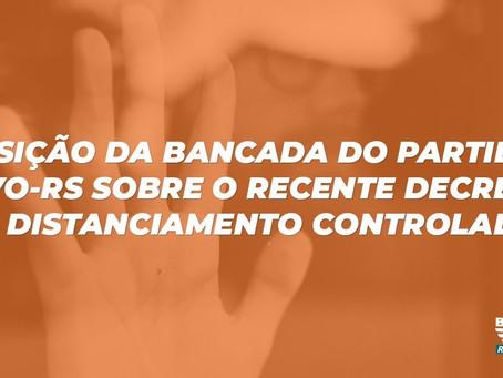 NOTA DA BANCADA DO NOVO SOBRE DECRETO DO DISTANCIAMENTO CONTROLADO
