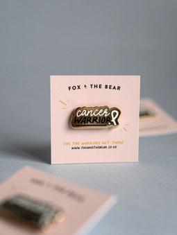 Cancer Warrior Enamel Pin