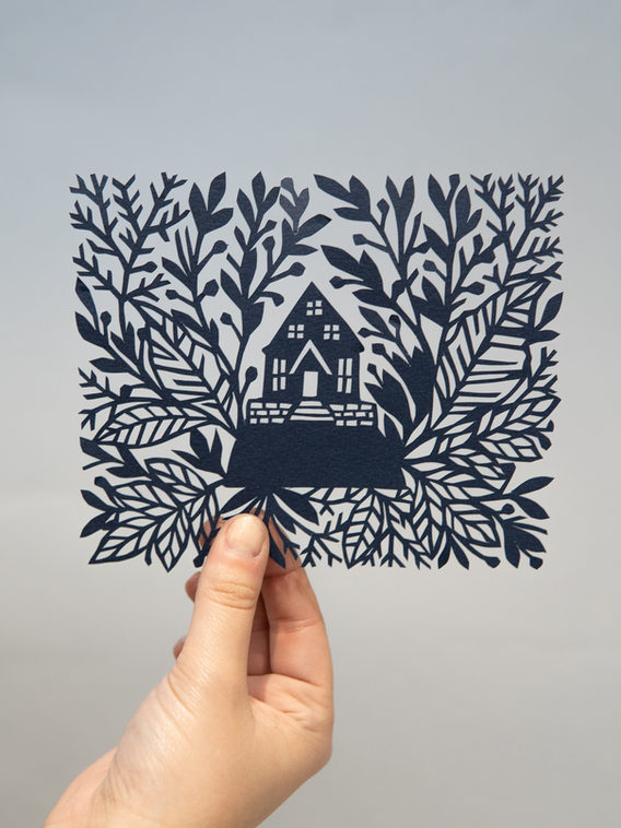 House on the Hill Papercut