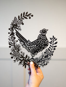 Pheasent Papercut