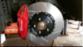 Brembo brakes, slotted rotors, big brake kit