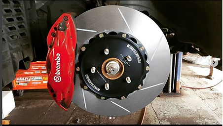 Brembo brakes, slotted rotors, big brake kit