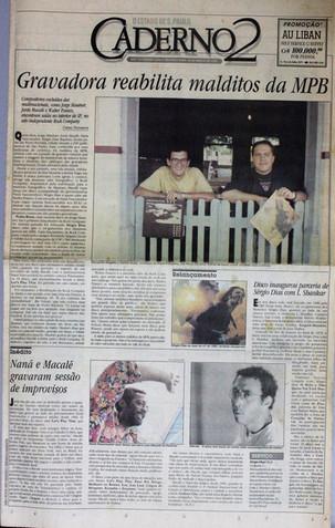 Caderno 2, O Estado de S. Paulo. 22/03/1993