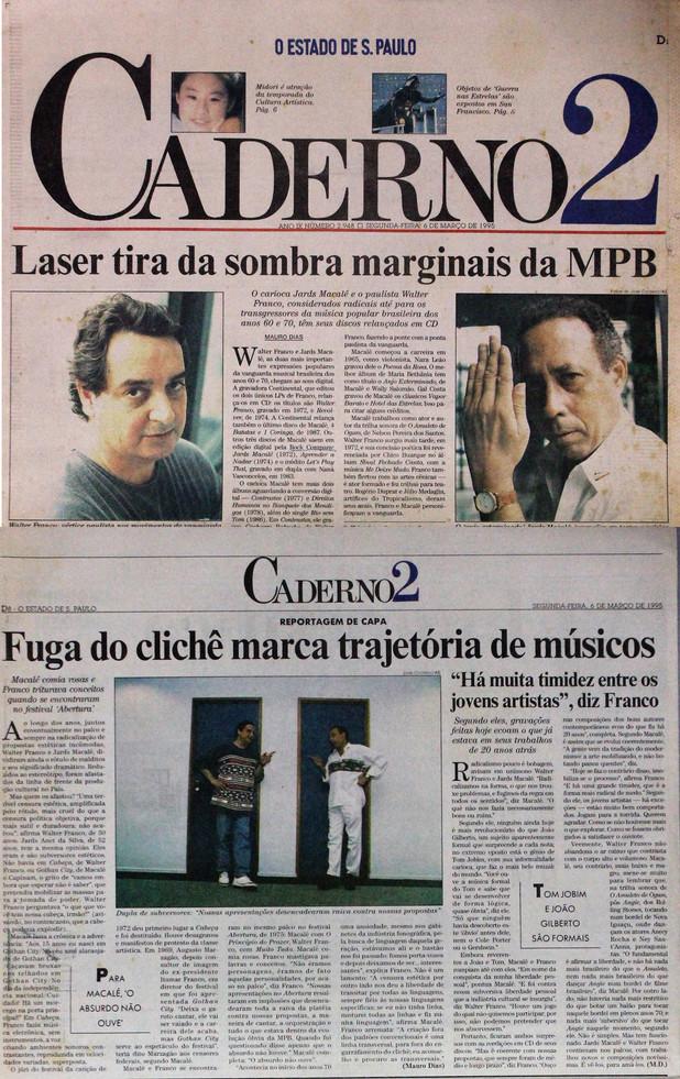 Caderno 2, O Estado de S. Paulo. 06/03/1995