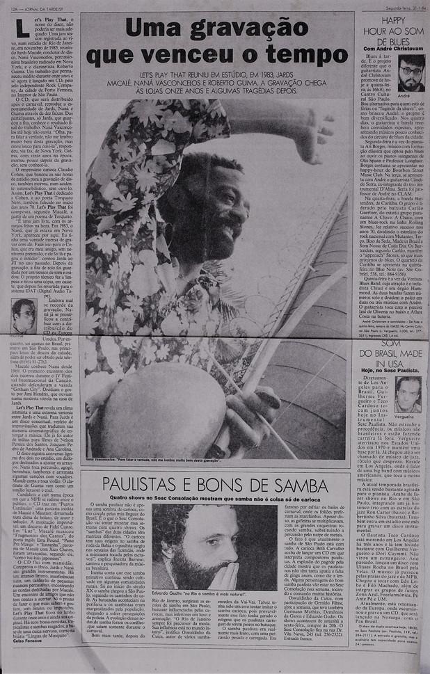 Jornal da Tarde. 31/01/1994