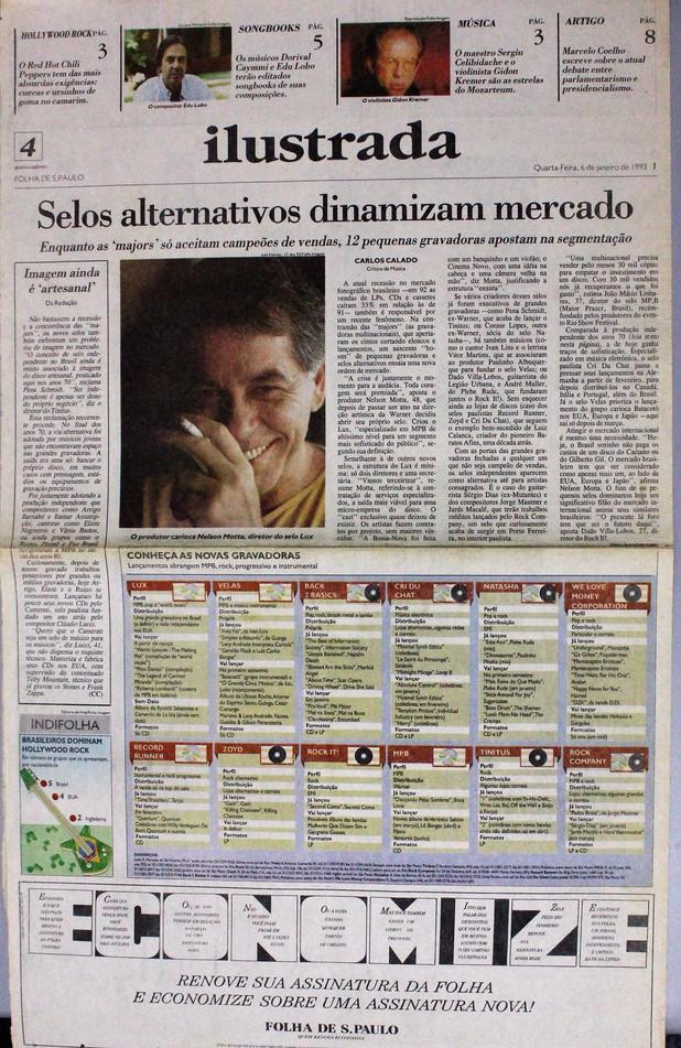 Ilustrada, Folha de S. Paulo. 06/01/1993