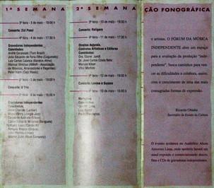 Fórum da Música Independente. 06/05/1994