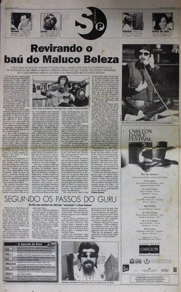 Jornal da Tarde. 01/06/1995