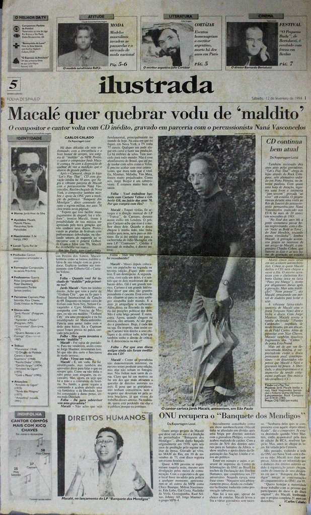 Ilustrada, Folha de S. Paulo. 12/02/1994