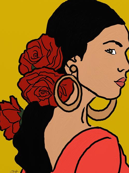 Art Print - Portrait of a Latina