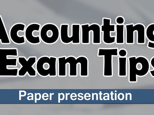 Tips for Accountancy Exams -XII
