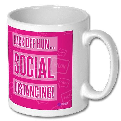 Back Off Hun Social Distancing Mug
