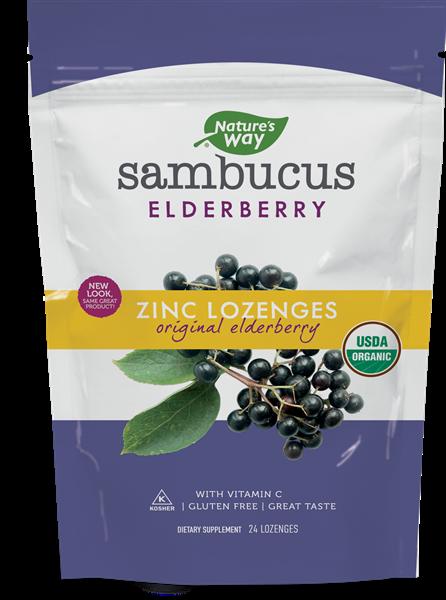 Sambucus Elberberry Zinc Lozenges Orginal Elderberry 24 Lozenges