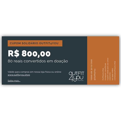 Cupom Solidário Outfit4You
