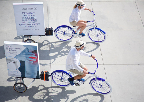 Experiential Marketing Bicycle Poster Di