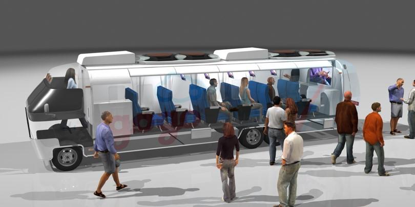 Experiential Marketing City Bus Conversi