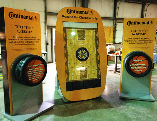 Experiential Marketing Tire Display Cust