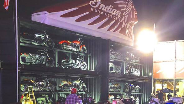 Experiential Marketing Motorcycle Displa