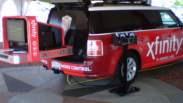 Experiential Marketing Slide Out Vehicle