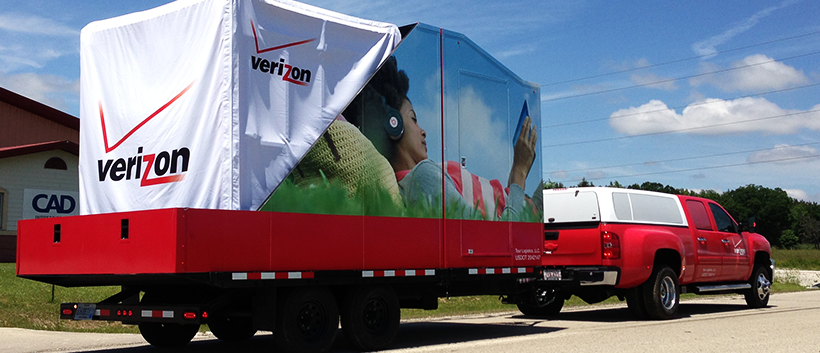 Experiential Marketing Trailers LED Disp