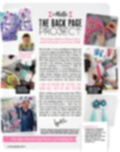 A magazine article featuring dakota rae dust in Mollie Makes Craft Magazine