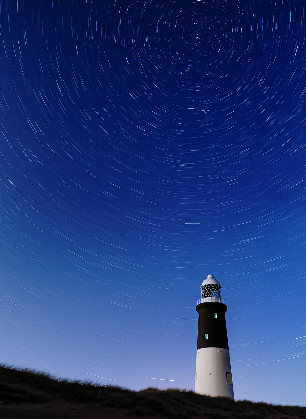 Spurn Point Lighthouse Star Trails