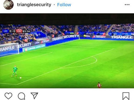 #TriangleSecurity got some great advertising #skysports1@ Leicester v Liverpool live match!