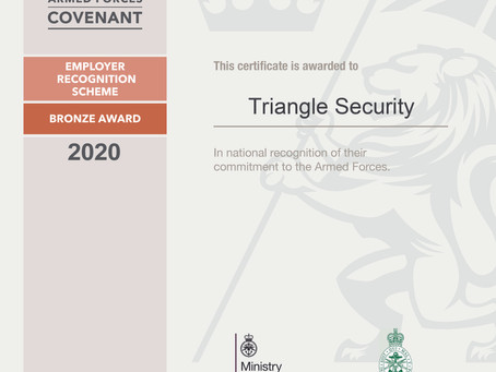 We receive Bronze award from the Defence Employer Recognition Scheme (ERS).