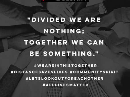 In times of crisis we all need to come together